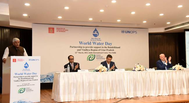 उत्तर प्रदेश के बुंदेलखंड और विंध्य क्षेत्र में जल जीवन मिशन की मददकरने को लेकर संयुक्त राष्ट्र परियोजना सेवा कार्यालय ने डेनमार्क सरकार के साथ साझेदारी की